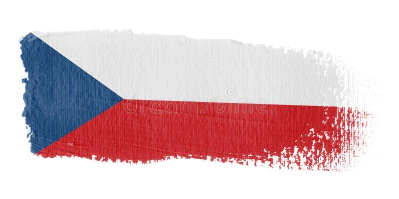brushstroke republi czeskiego bandery ilustracja wektor