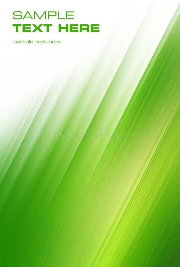 Brushstrokes verdes abstratos ilustração stock