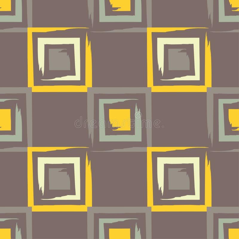brushwork Modelo geométrico inconsútil Colores brillantes y formas simples libre illustration