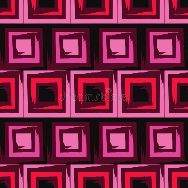 brushwork Modelo geométrico inconsútil Colores brillantes y formas simples stock de ilustración