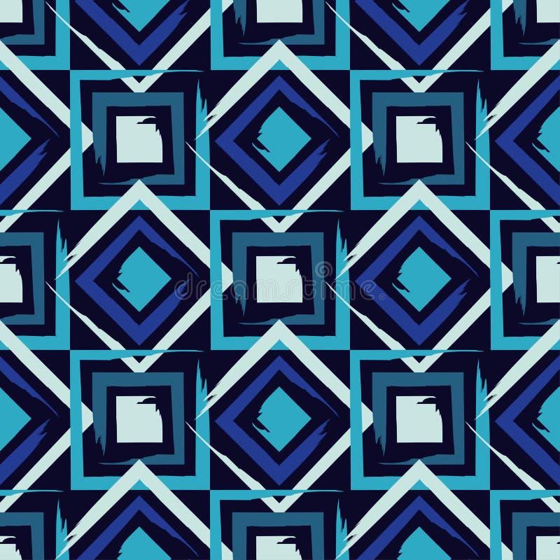 brushwork Modelo geométrico inconsútil Colores brillantes y formas simples ilustración del vector