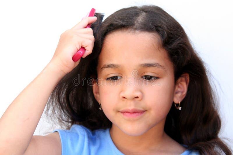 brusing włosy g - girl. fotografia royalty free