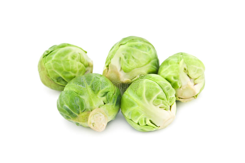 Brussel. Cabbage isolated on white royalty free stock photo