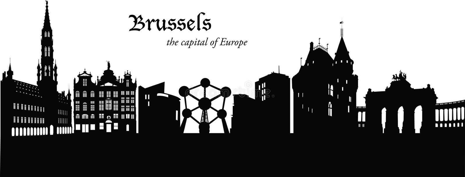 brussel stock illustratie