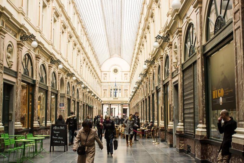 Brussel, België: binnenkoningin Gallery royalty-vrije stock foto