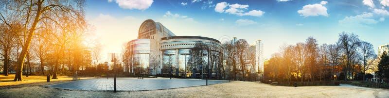 Brussel, België - 25 Februari 2018: Het Europees Parlement royalty-vrije stock afbeeldingen