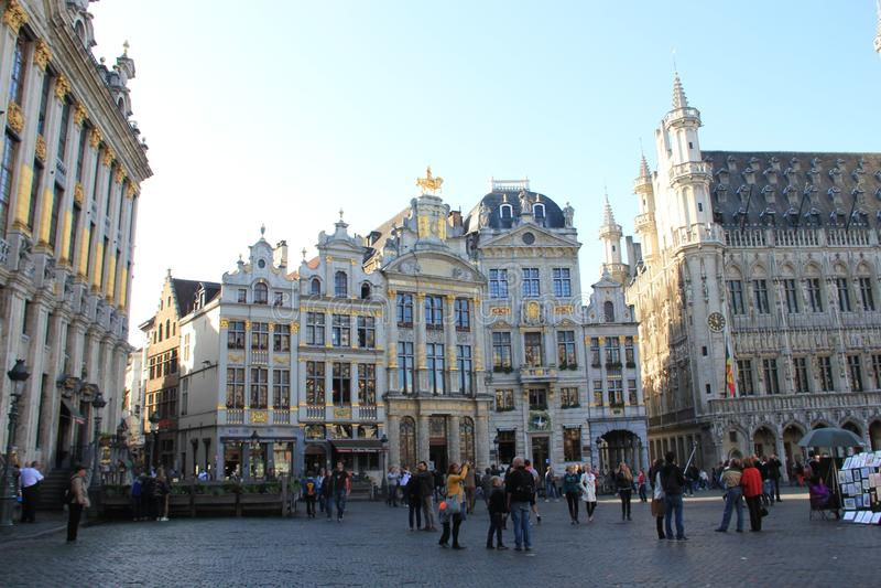 Brussel, België, Grand Place stock foto