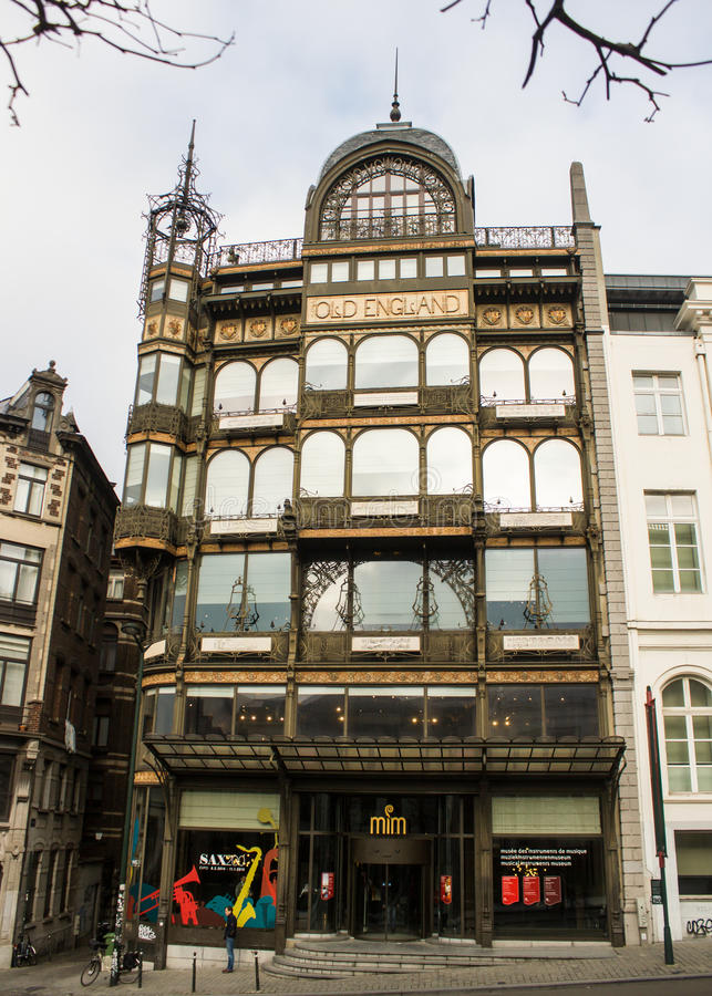 Brussel, België: Museum van Muzikale Instrumenten stock foto