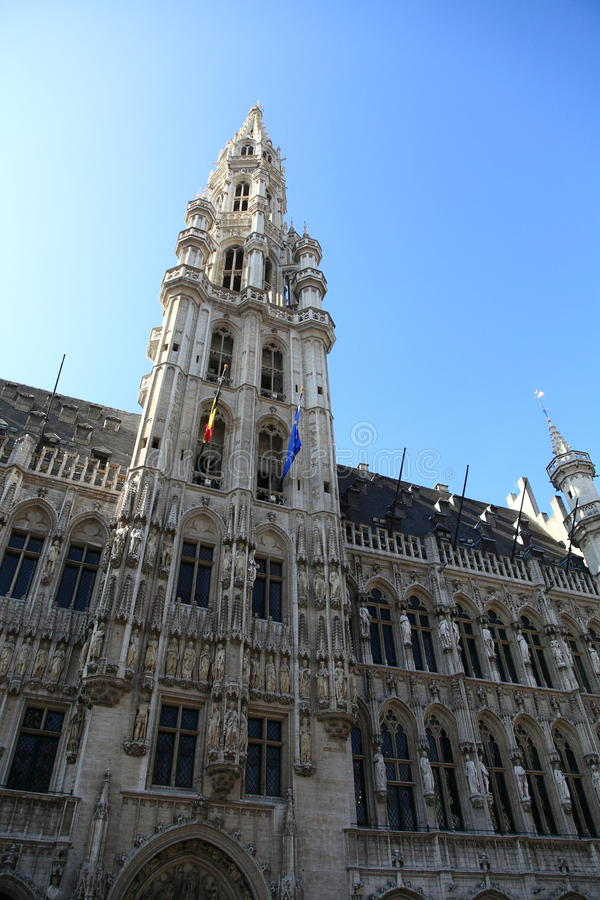 brussel Brussels grote sala markt miasteczko fotografia stock
