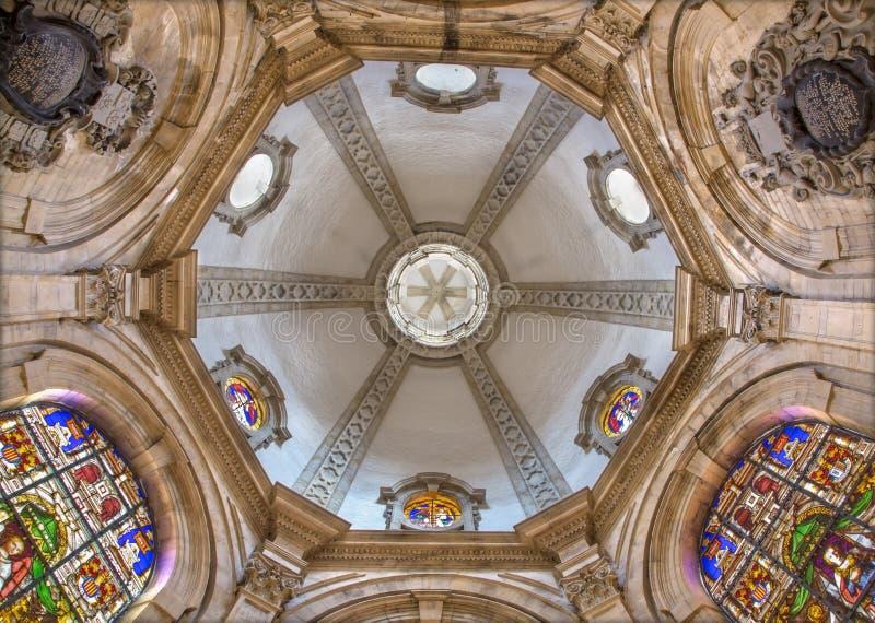 Brussel - Koepel van de maes-Kapel in gotische kathedraal van Heilige Michael en Heilige Gudula royalty-vrije stock foto