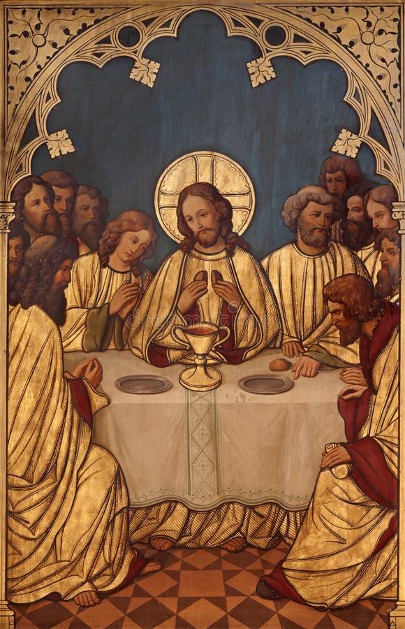 Brussel - Laatste super van Christus. royalty-vrije stock afbeeldingen