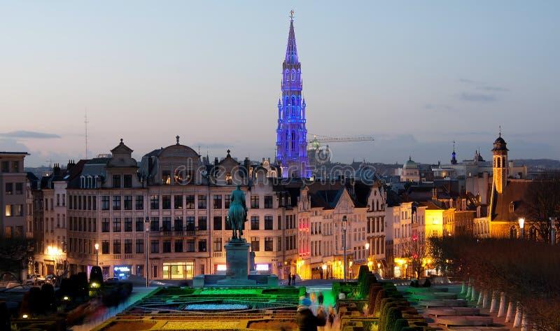 Brussel Mont des Arts stock foto's