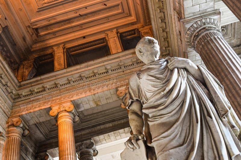 Brussel, rechtvaardigheidspaleis, vestibule, Cicero'n royalty-vrije stock foto