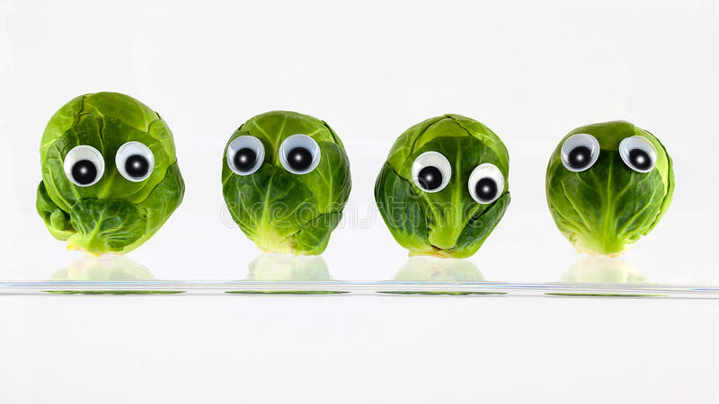 Brussel sprout heads stock photography