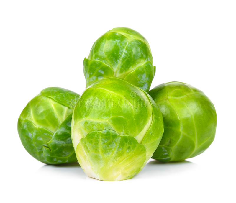 Brussel sprout isolated on the white background.  stock image