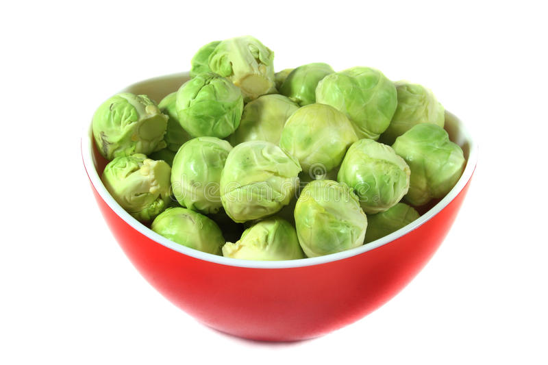 Brussel sprouts. Dressed brussel sprouts in a bowl royalty free stock photography