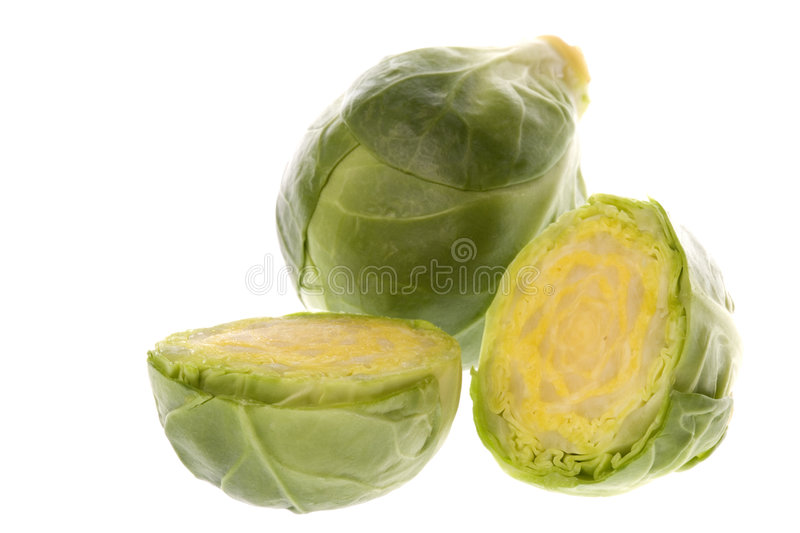 Brussel Sprouts Macro. Isolated macro image of Brussel Sprouts stock image