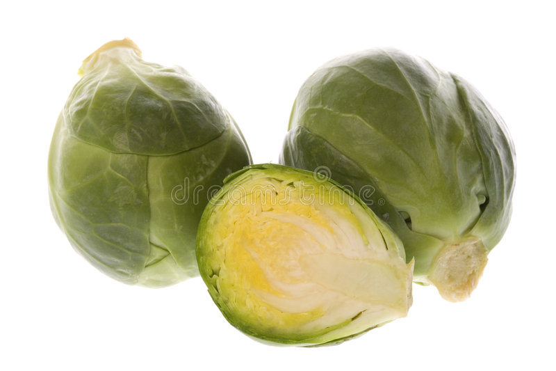 Brussel Sprouts Macro. Isolated macro image of Brussel Sprouts stock photos