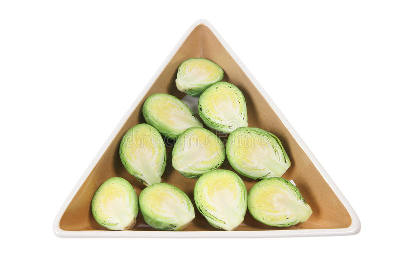 Brussel Sprouts on Plate royalty free stock image