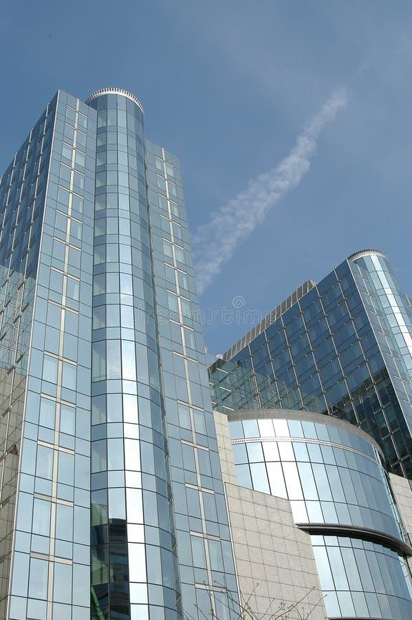 Brussel: wolkenkrabbers stock afbeeldingen