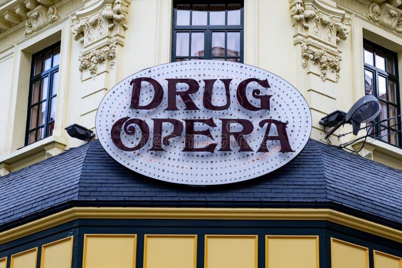 BRUSSELES, Zeichen BELGIENS 15. Juni 2018 - von Drig-Oper in Brüssel lizenzfreie stockbilder
