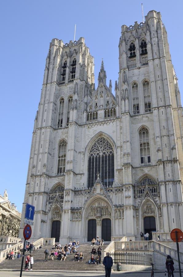 Собор в Брюсселе стоковые фото