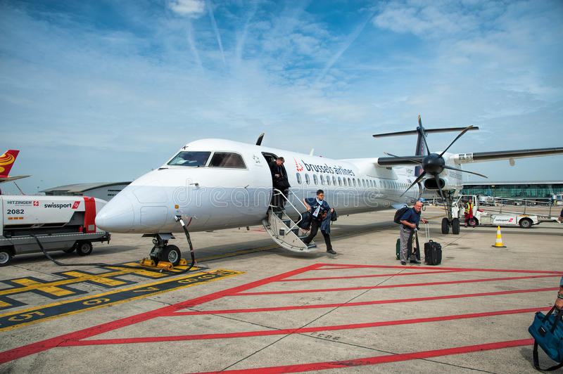 Brussels Airlines royalty-vrije stock afbeelding