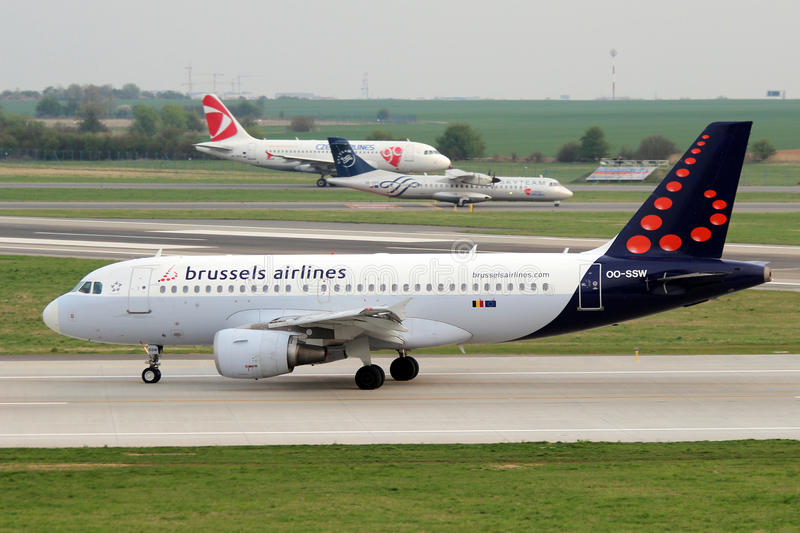 Brussels Airlines imagens de stock royalty free