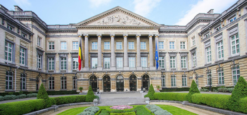 brussels belgijski parlament zdjęcie stock