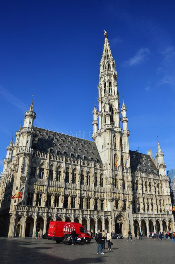 Download Town Hall Of The City Brussels A Building Gothic Architectural Style At