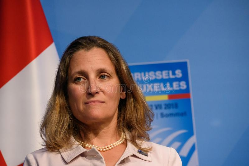 Chrystia Freeland, Minister of Foreign Affairs of Canada royalty free stock photos