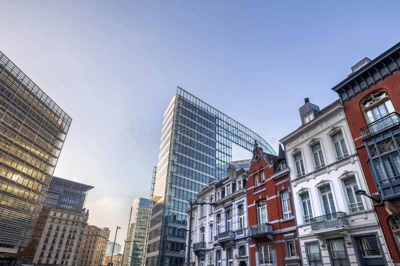 Brussels belgium cityscape royalty free stock photo