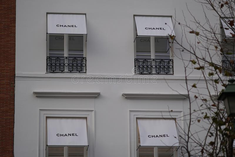 Chanel store stock image