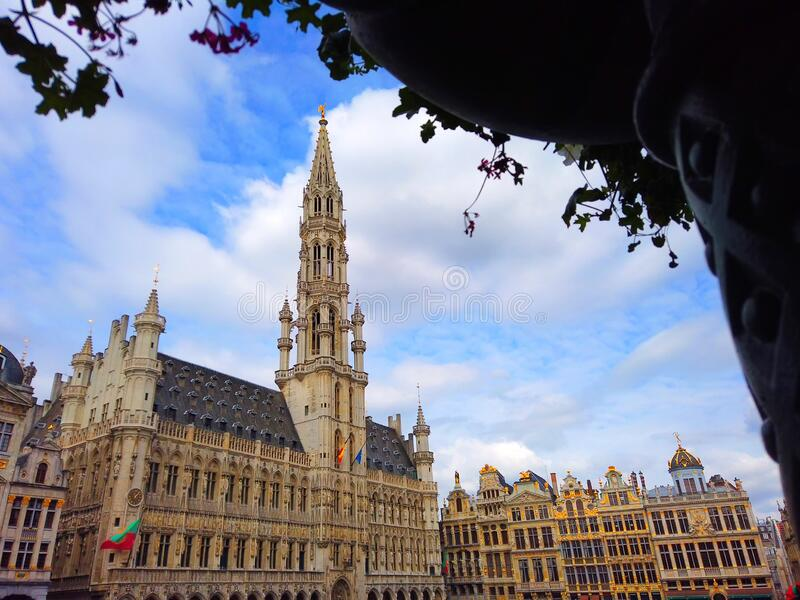 BRUSSELS BELGIUM Gran Place main square daytime stock photo