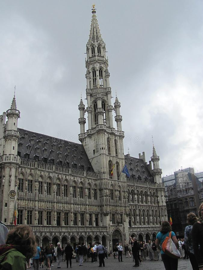 Grand Place in the centre of Brussels royalty free stock images