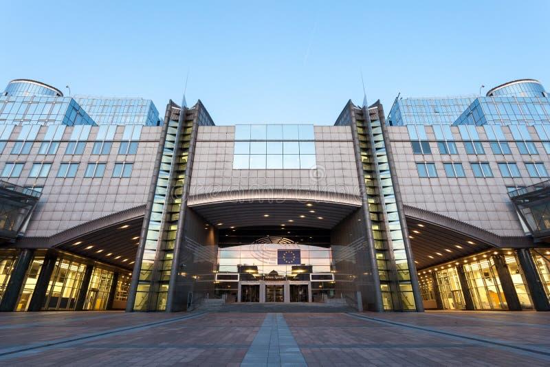 brussels budynku parlament europejski zdjęcia stock