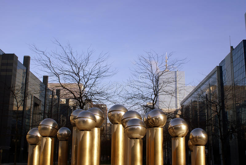 Download Brussels business quarter editorial photo. Image of sculpture - 22928351