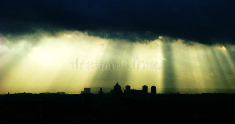 Skyline of Brussels. royalty free stock photography