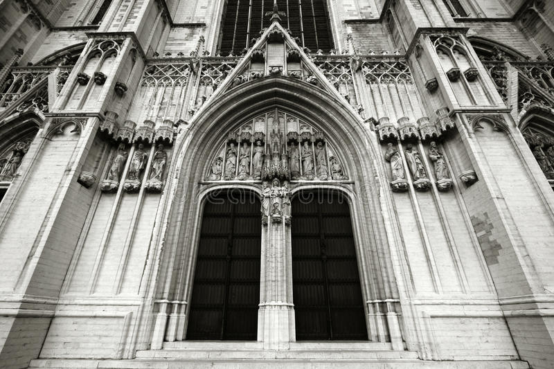 Brussels cathedral royalty free stock images