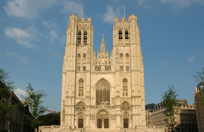 Download Brussels Cathedral stock image. Image of brussels, church - 15880723