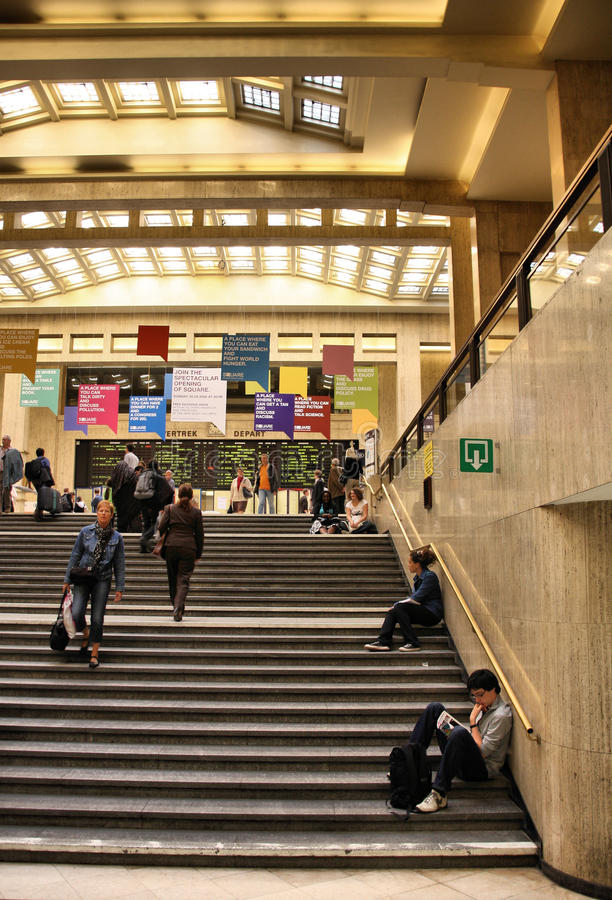Brussels Central station stock photography