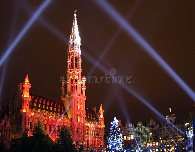 brussels christmas στοκ φωτογραφία με δικαίωμα ελεύθερης χρήσης