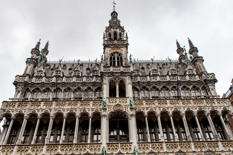 Brussels City Museum on Grand Place. BRUSSELS, BELGIUM - JANUARY 1, 2019: Brussels City Museum on Grand Place in Brussels, Belgium on January 1, 2019 royalty free stock photography