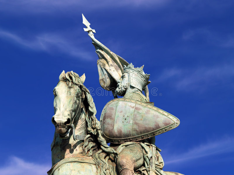 Brussels Crusader Statue Royalty Free Stock Images