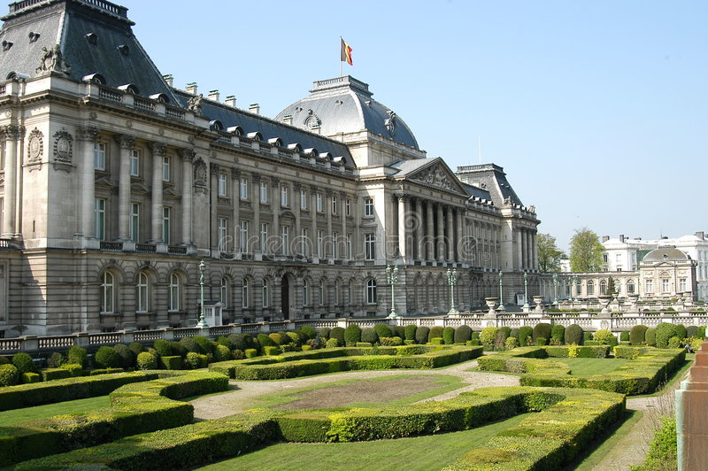 brussels du дворец roi стоковая фотография rf