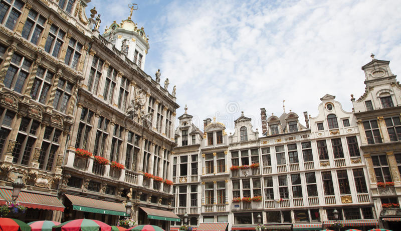 Download Brussels - The Facade Of Palaces From Main Square Royalty Free Stock Images - Image: 25762449