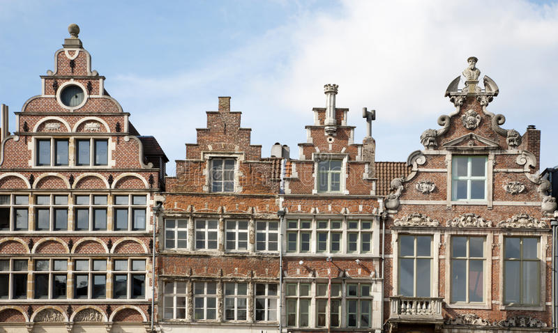 Download Brussels - The Facade Of Typical Houses Stock Image - Image of facade, gent: 26838187
