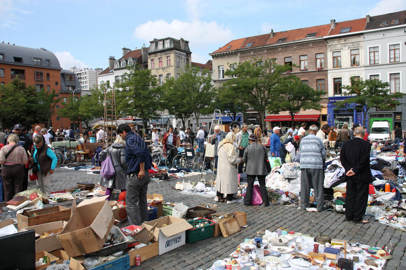 Download Brussels Flea Market Editorial Photo - Image: 12763691