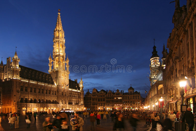 Brussels Grand Place royalty free stock images