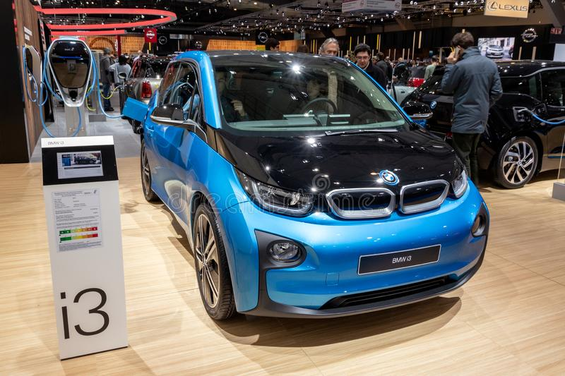 BMW i3 electric city car royalty free stock image